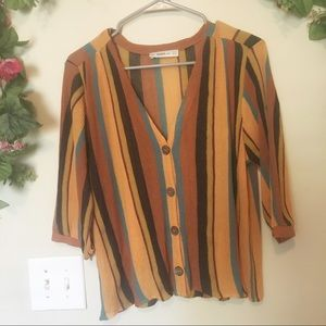 Zara Knit Multi Color Cardigan S